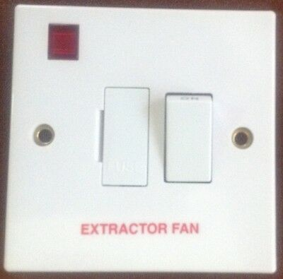 Volex Switched Fused Spur 13 Amp Neon 1 Gang Marked Extractor Fan Brand New