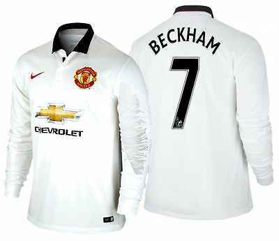 Nike David Beckham Manchester United Long Sleeve Away Jersey 2014/15