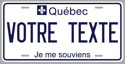 Sticker Plaque Immatriculation Quebec Montreal Canada Je Me Souviens Pd141-1