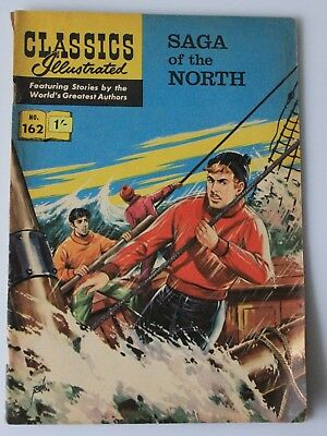 British Edition Classics Illustrated Comics  # 162 ( HRN 156 ) Saga of the North