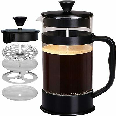 French Coffee Press 34 Oz Espresso Tea Maker with Triple Filters Utopia Kitchen