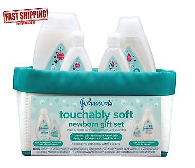 Johnson'S Touchably Soft Newborn Baby Gift Set, Baby Bath  Skincare For Sensiti