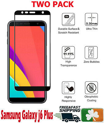 Samsung Galaxy J6 Plus 2018 Full Cover 4D HD Tempered Glass Screen Protector