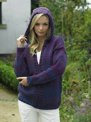 knit kit James Brett pattern JB425 and Marble Chunky MC15 yarn