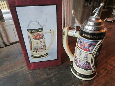 """Vintage 13"""" Anheuser Busch Stein - No.2 Of 5-20Th Century In Review Series  Mint"""