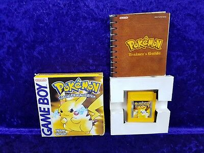 Game boy POKEMON Special Pikachu Yellow Edition BOXED & COMPLETE GBA PAL