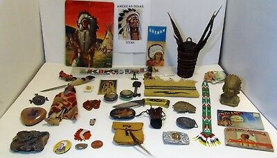 Us Indian Items >  Huge Lot Of 35 + American Indian Items: Chippewa & Cree +
