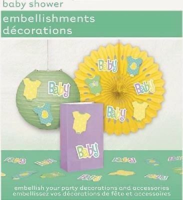 ** 24 Piece Baby Shower Embellishments Decorations Stick On Gender Reveal Party