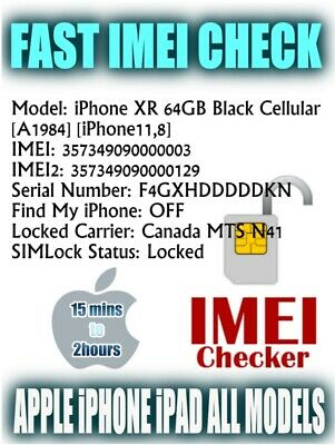 iPhone IMEI Vérifier Check Network Carrier SIMLOCK Find My Iphone Status Checker