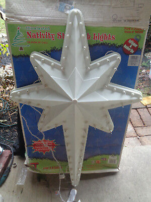 "Vtg Nativity Star 39"" Empire Light Up Blow Mold Decoration AS IS ...DOESNT LIGHT"