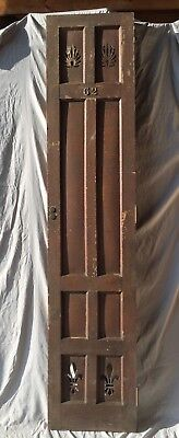Antique Tall Oak Locker Doors Brass Numbers 18X86 Shabby Vintage Old Chic 15-19C