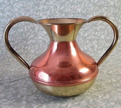 Excellent Vintage French LECELLIER VILLEDIEU COPPER & BRASS VASE Urn Plant Pot