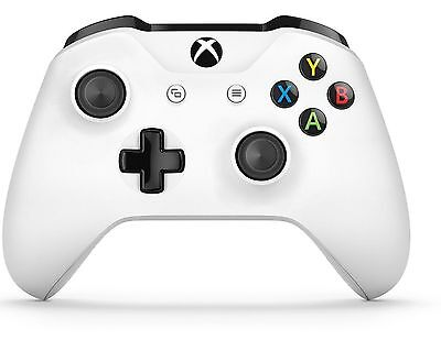 New Official Microsoft Xbox One S Wireless Bluetooth Controller w/ 3.5mm - White