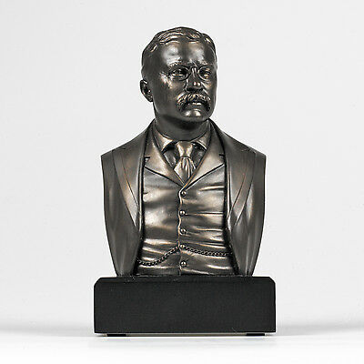Historical Theodore Roosevelt Bust Statue GIFT Sculpture FIGURINE SAGAMORE HILL