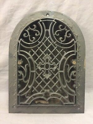 Antique Cast Iron Arch Gothic Heat Grate Wall Register 7X10 Dome Vtg  49-19D