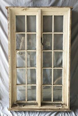 Vintage 10 Lite Casement Windows Pair Unit With Surround Shabby Old Chic 18-19C