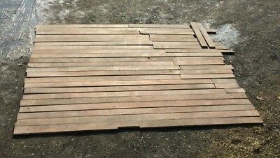 Genuine Antique Pine Wide Plank Tongue Groove Flooring 110 Sq Ft Old 26 19m