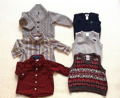 Baby Boy Preppy Sweaters & Shirts Lot Old Navy, Chaps, Gymboree, Carters 3-6 Mo