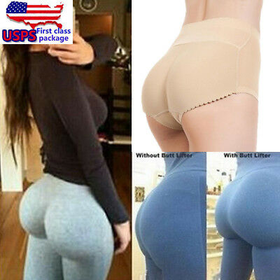 Womens Hip Enhancer Booster Butts High Waist Panty Padded Shaper Underwear Breif