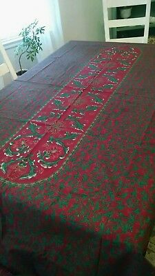 TABLECLOTH CHRISTMAS, HOLIDAY AMAZING LGE 102 X 58 Aprox LOOK @
