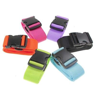 6PCS Adjustable Travel Suitcase Strap Luggage Baggage Backpack Bag Packing Belt