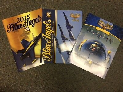 Authentic Official U.S. Navy Blue Angels Program Year Books COMBO 2013/14/15