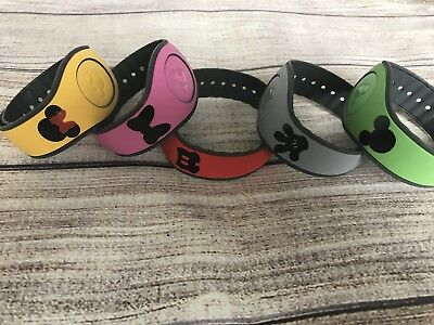 Set of 5 Disney Magic Band Decals stickers Mickey & Minnie Head, Bow, Pants