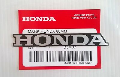 HONDA MARK 80mm SILVER / BLACK STICKER DECAL STICKER LOGO BADGE 100% GENUINE