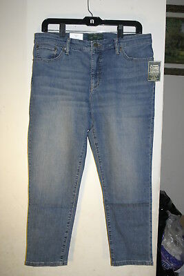 Ralph Lauren LRL Jeans Co Classic Straight Cropped Perry Wash NWT Size 18W 18 W