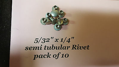 "10 pack of Semi Tubular RIVETS  5/32"" x 1/4"" antique slot machine ""F"""
