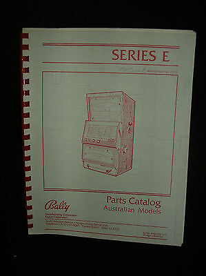 Bally Slot Machine Parts Catalog Australian Models Series E  7070 1981 Printing