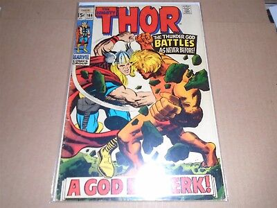 THE MIGHTY THOR #166 Marvel Comics 1969 VG