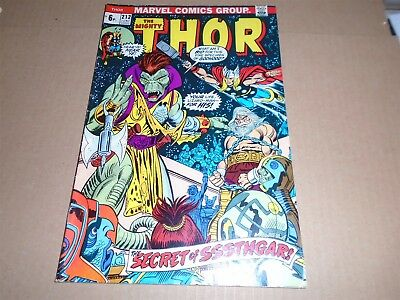 THE MIGHTY THOR #212 Marvel Comics 1973 FN++