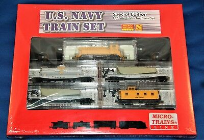 Micro-Trains Us Navy Train Set 1, Special Edition N Scale Collector Set– Nib!!