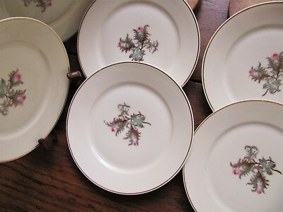 7 Antique Haviland Limoges Moss Rose Plates Bread Dessert Plates Haviland China