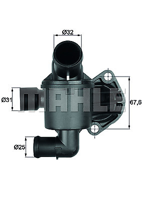 NEW BTI3587 BEHR Coolant thermostat  OE REPLACEMENT 01i07