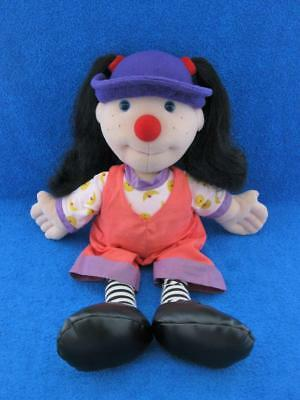 """The Big Comfy Couch Loonette 1995 Clown Doll 21"""" Plush By Commonwealth - Mint !"""