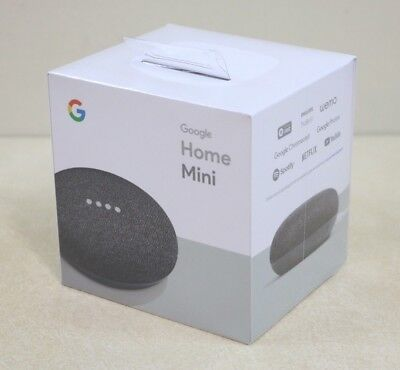 Google Home Mini - Google Personal Assistant - Charcoal SEALED PACKAGE
