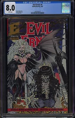 EVIL ERNIE #5 (1992 Eternity) CGC GRADED 8.0 VF WHITE PAGES Lady Death
