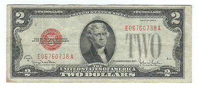 1928G $2 United States Red Seal Note, Fr1508, Very Fine