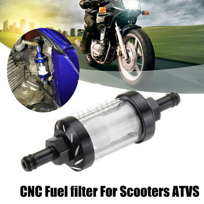 Aluminum Alloy CNC Fuel filter High Performance For Motorcycle Scooters ATV Kart