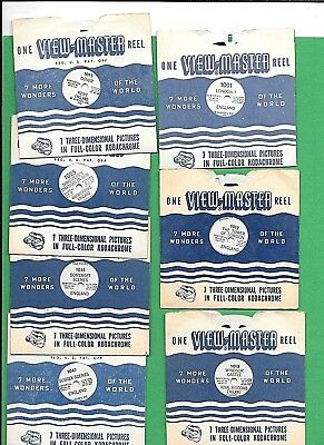 7 Viewmaster Reels England- Dover Somerset Sussex London Windsor Castle & More