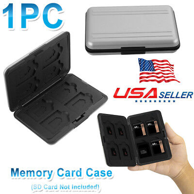 Waterproof 8 Micro SD/TF 8 SD Storage Holder Memory Card Case Protector Box Fast