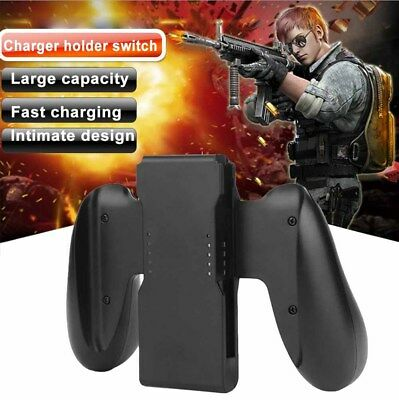 Comfort Grip Charging Handle Bracket Holder Charger For Nintendo Switch Joy-Con