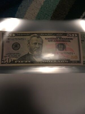 (1) $50 Star Note-UNCIRCULATED NO FOLDS Series 2013 Common Run And Year