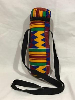 Water, Baby, Thermos or Insulated Bottle Carrier in African Kente Print