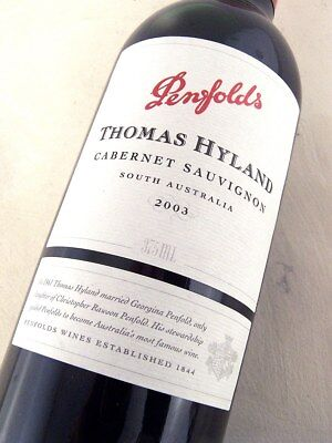 2003 PENFOLDS Thomas Hyland Cabernet Sauvignon 375ml ISLE OF WINE