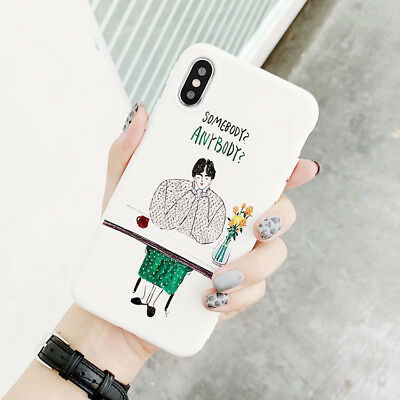 Cartoon Abstract Art Thinking Phone Case Silicone For iPhone X XS XR 6 7 8 Plus