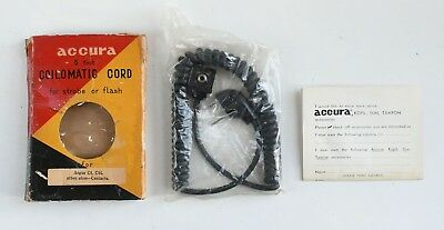 Accura 5' Coiled Cord for Argus C4, C44 Flash Household to Hotshoe Sync Cord