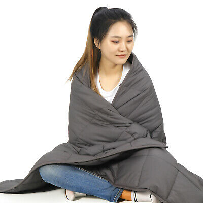 """20lbs Grey Weighted Blanket Fit To Queen/Full Size Bed Sewing Technology 60x80"""""""